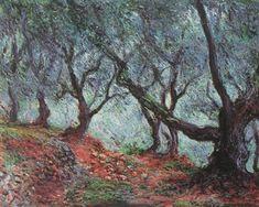 Grove of Olive Trees in Bordighera, 1884, Claude Monet