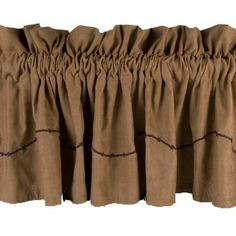 "Embroidered Micro Suede Barbed Wire #Western #Valance 84"" x 18"" #DelectablyYours #WesternDecor"