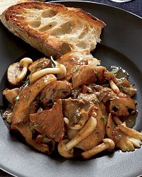 Chicken, Wild Mushroom and Roasted Garlic Saute