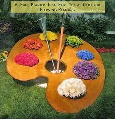 fun garden idea when you have colorful plants