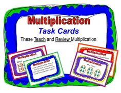 These multiplication task cards provide helpful hints.  The multiplication problems are presented in different formats to help students deeply understand this concept.  A printable box is also included.