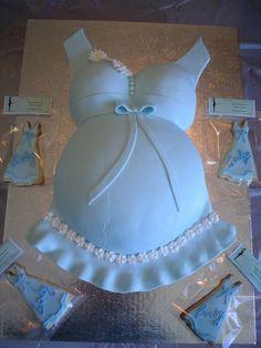 Bolos decorados de grávidas