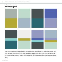 Colour Combinations page from Submerged, A/W 2013/14 by Trend Bible