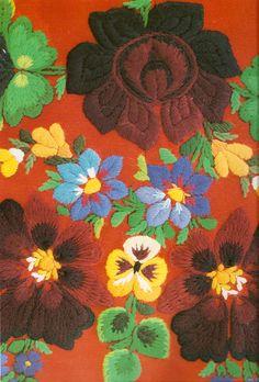 Anna Rooth - Dala Floda costume; woollen yarn embroidery  'Made in Sweden'