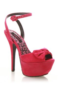 Dollhouse Flaunt Sandal In Fuchsia - Cute Bow Detail