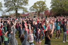 Get creative. Thank a teacher by coordinating a flash mob.