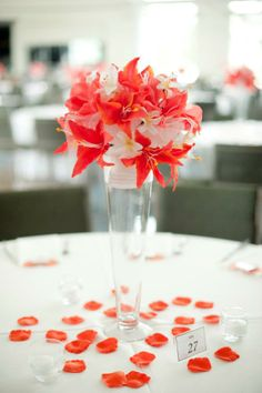 Coral Centerpiece ... Wedding ideas for brides, grooms, parents & planners ... https://itunes.apple.com/us/app/the-gold-wedding-planner/id498112599?ls=1=8 ... ... plus how to organise your entire wedding ... The Gold Wedding Planner iPhone App ♥
