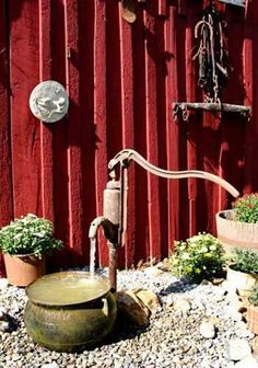 Idea for the old water pump fountain