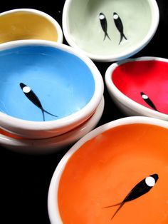 Pottery pinch pots by Jobi Pottery, located in Cape Cod.