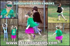 Calleigh's Clips & Crochet Creations: Free Pattern - Superhero Capes and Masks