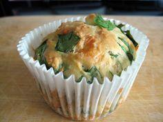 Feta, Cheddar and Spinach Muffins!