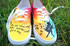 custom all time low lyrics painted shoes from Wreckless   shopwreckless@gmail.com