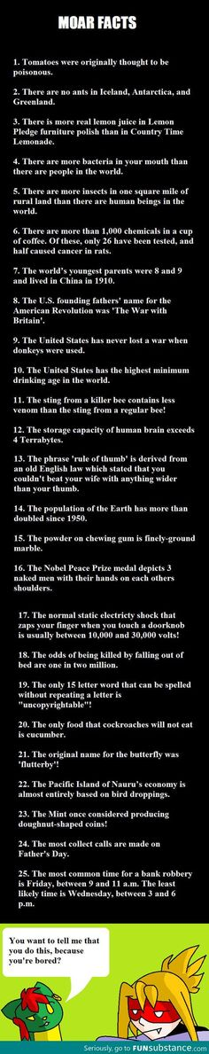 Mre Fun Facts