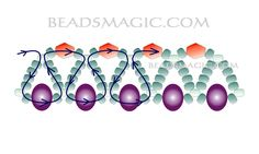 Free pattern for beaded necklace Emerald | Beads Magic