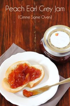 Peach Earl Grey Jam {Gimme Some Oven}