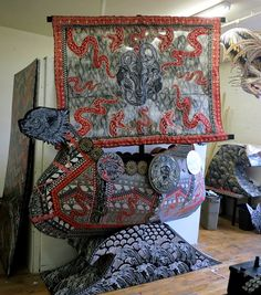 temples, galleries, wolfbat wolfbatstudio, vikings, studios, wolfbatstudio art, wolfbat studio, los angeles, ships