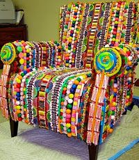 garden chairs, candy buffet, stuff, birthday parties, candi chair, color, candies, old chairs, mosaic