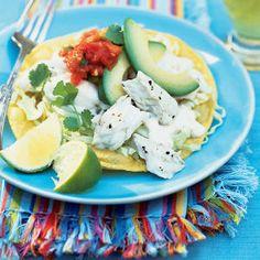 Fast & Fresh summer meals | Halibut Tostadas with Yogurt-Lime Sauce | Sunset.com