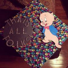 graduation caps, grad cap, caps graduation, graduat cap, cap idea, thats all folks cap, graduating caps