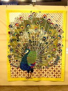 Tokyo quilt show 2013.   Peacock.