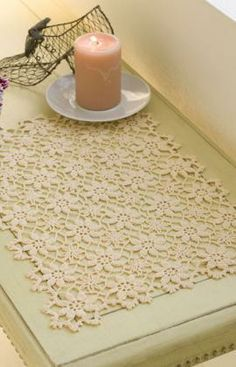 Apple Blossom Placemat Free Pattern from Aunt Lydia's Crochet Thread