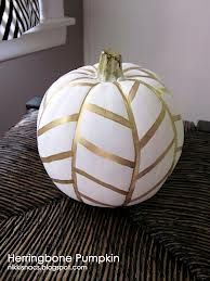 White & gold pumpkin