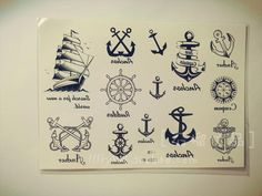 Pomegranate navy style anchor quality product sailboat waterproof tattoo stickers 28 a42 anchors, tattoo ideia, navi tattoo, anchor tattoo navy, tattoo ancre, ancr marin, anchor tattoos, tatouage ancre marine, ink