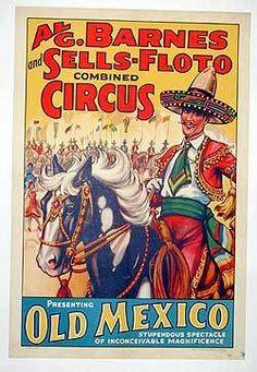 Al G Barnes Sells Floto Combined Circus Original Vintage Poster 1937 Old Mexico | eBay