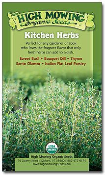 Kitchen Herbs Organic Seed Collection