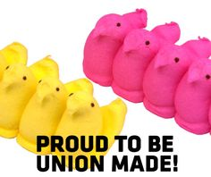 Yes those Easter Peeps are in fact union made by BCTGM Union. Get a list of more made in America sweets and treats and also items to prepare your Easter meals at:  www.aflcio.org/MadeinAmericaEaster