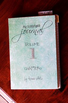 Scripture journal tute Part 2: Studying by chapters. From One of a Kind