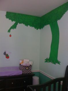 The Giving Tree wall Mural I would Love to have in my classroom.