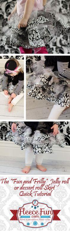 tutu skirts, skirt patterns, jelly rolls, frilli skirt, jelli roll, kid stuff, baby skirts