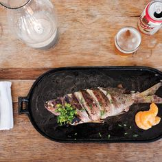things on the lighter side with this grilled fish recipe. Marjoram ...