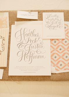 Letterpress Wedding Calligraphy #letterpress #calligraphy