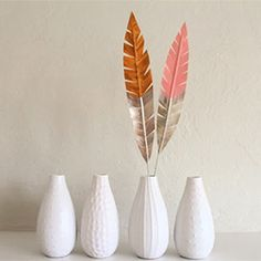 Follow this simple tutorial and make your own decorative feathers using masking tape and wire.