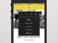 Type settings