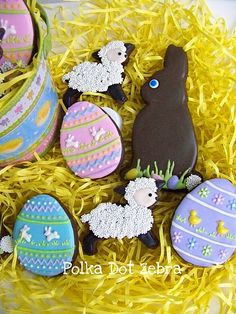 Easter cookies by Polka Dot Zebra