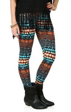 Deb Shops Tie Dye #Tribal #Print #Leggings $8.94