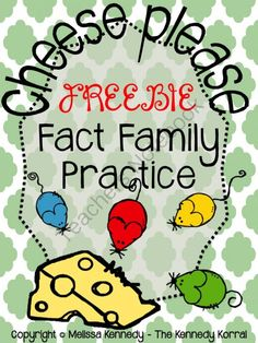 Fact Family Freebie from The Kennedy Korral on TeachersNotebook.com -  (11 pages)  - Fact Family Practice 4 Worksheets and Answer Keys