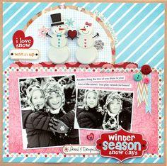 Circle page layout       --------        Vicki Boutin - Pink Paislee