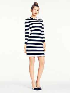 @Kate Mazur Mazur Spade striped Shira dress.