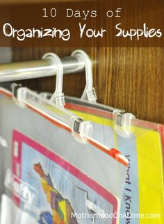 Organization Tips for Craft or School Supplies