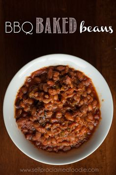 BBQ Baked Beans - Self Proclaimed Foodie
