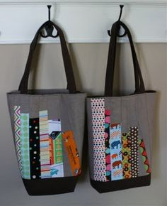 Book totes for teacher gifts