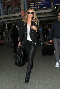 Rosie Huntington-Whiteley - Rosie Huntington-Whiteley and Jason Statham  in London