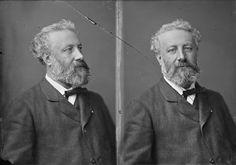 Author Jules Verne, portrait by Nadar (Gaspard-Félix Tournachon). (before 1905) Grand Palais, Paris.