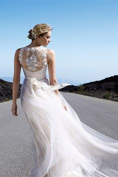 Onyx Gown in Bride Wedding Dresses Back Detail at BHLDN