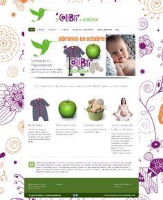 """Diseño de la web de la ecotienda """"El colibrí de Attabeira"""" en Majadahonda"""