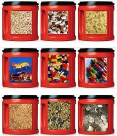 Bill needs lablels with pictures of assorted hardware. Crafty Canisters w/ Folger's Coffee Cans & Free Downloadable Labels